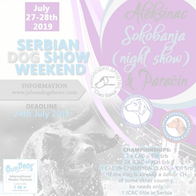 Serbian Dog Show Weekend 2019